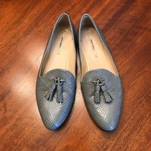 Zara Basic gray loafers with tassels